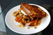 Banana French Toast with Walnuts, Honey Bacon and Mascapone, Foxcroft & Ginger