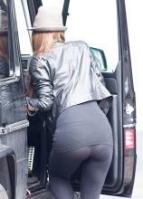 Myleene Klass' underwear was clearly visible through her leggings. We've all been there.