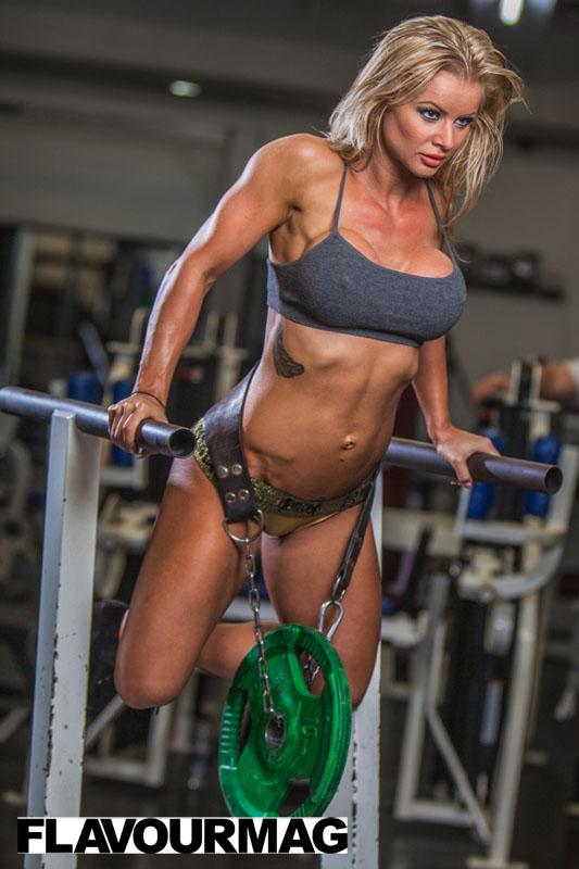 Charlayne Everhart fitness shoot Flavourmag 9