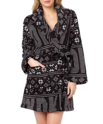 Snow Day black Fair Isle robe