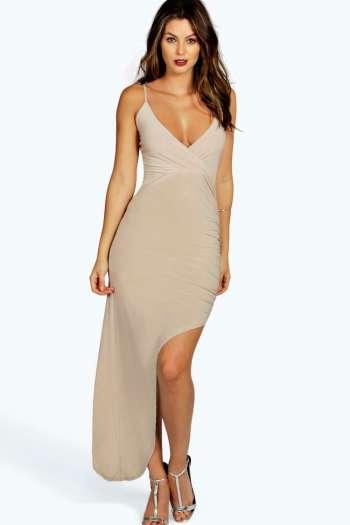 Helen Asymmetric Cross Front Strappy Dress