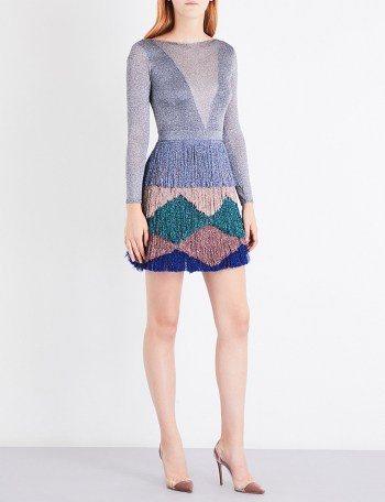 MISSONI Backless metallic-knit zigzag dress