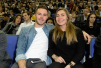 LONDON, ENGLAND - JANUARY 14: Jack Butland and Steph Parsons attend Orlando Magic vs Toronto Raptors NBA Global Game at The O2 Arena on January 14, 2016 in London, England. (Photo by David M. Benett/Dave Benett/Getty Images for NBA)