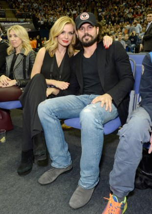 LONDON, ENGLAND - JANUARY 14: Katherine Jenkins and Andrew Levitas attend Orlando Magic vs Toronto Raptors NBA Global Game at The O2 Arena on January 14, 2016 in London, England. (Photo by David M. Benett/Dave Benett/Getty Images for NBA)