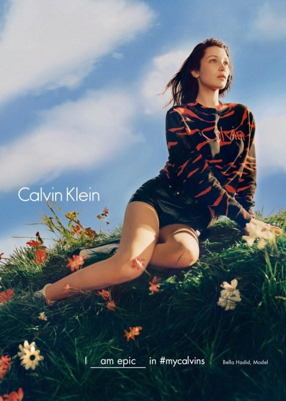 Bella Hadid for Calvin Klein Fall:Winter 2016 Campaign