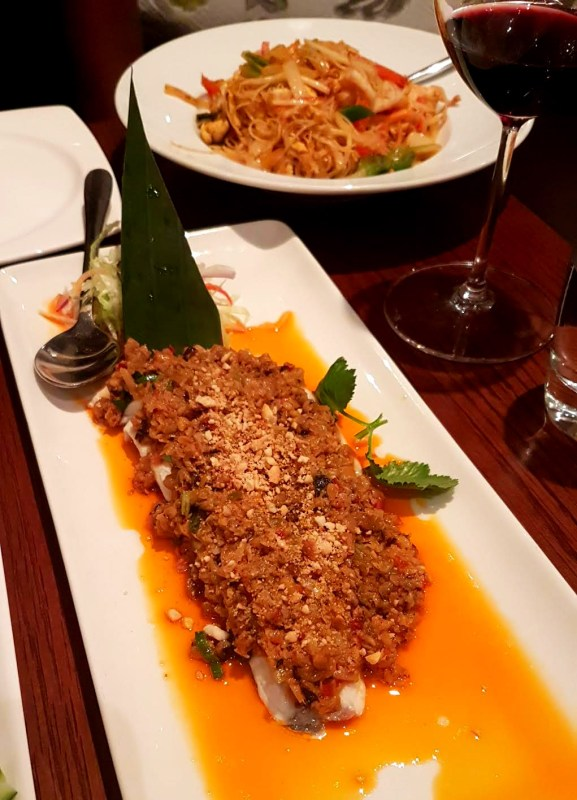 Chef Wang's special Sea bass
