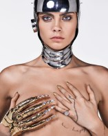 Cara Delevingne does nude cyber glam - 9