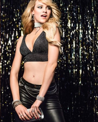 Ginta Lapina strips for La Senza