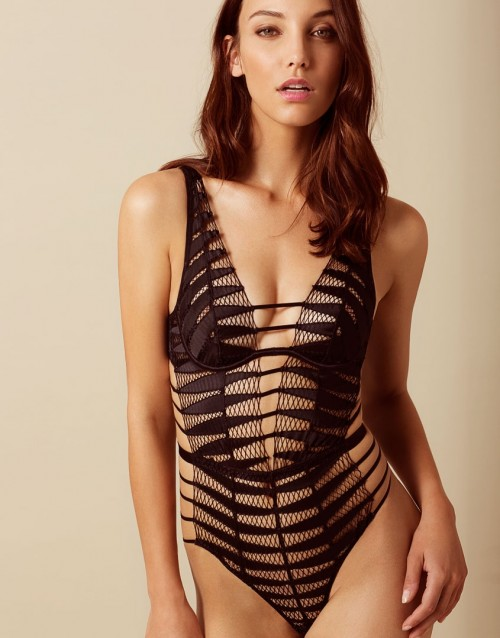 Agent Provocateur Rayna Bodysuit in Black