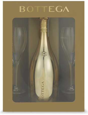 Bottega gold prosecco glass pack