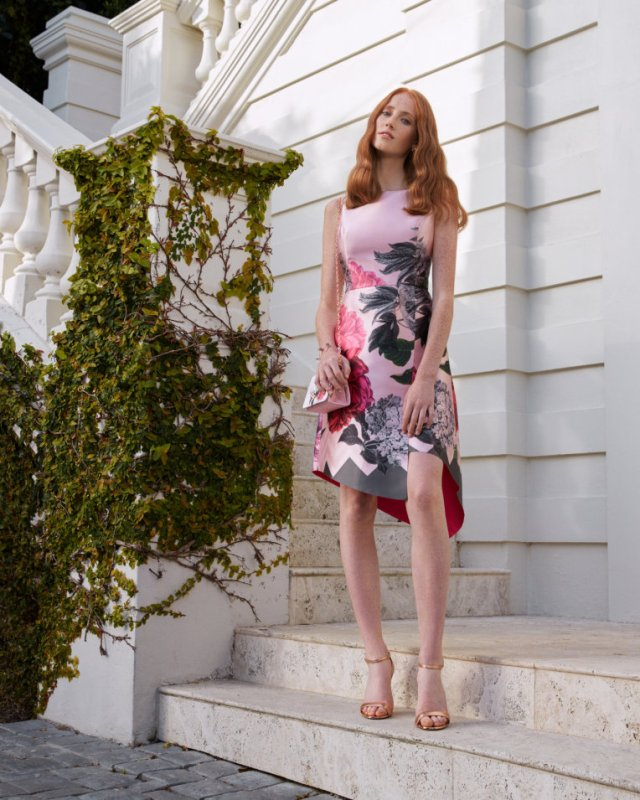 JOYCLYN Palace Gardens asymmetric dress