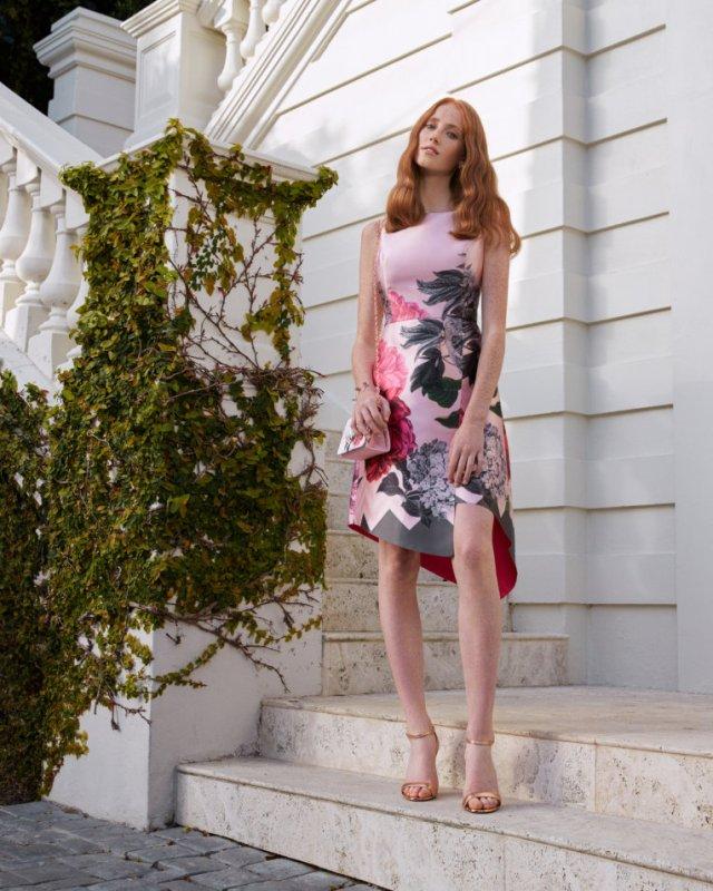 JOYCLYN Palace Gardens asymmetric dress