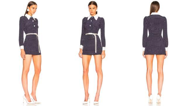 Alessandra RichPolka Dot Mini Dress