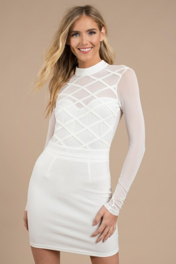 Know Better Mesh Bodycon Dress