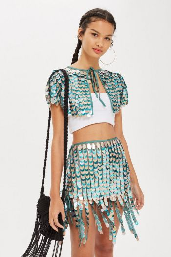 Topshop sale Sequin Drop Cape
