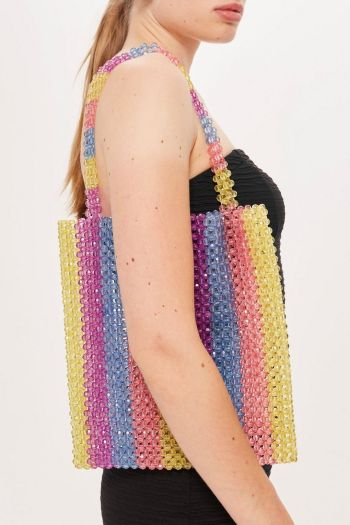 Topshop sale Beaded Tote Bag