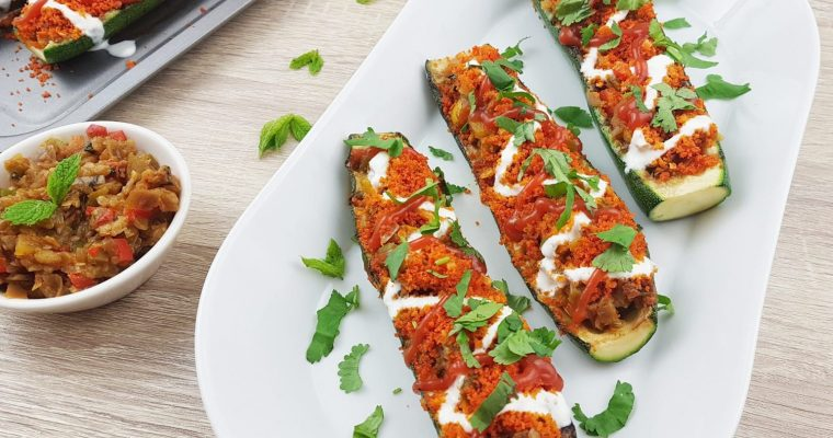 Vegetarian Stuffed Zucchini Boats