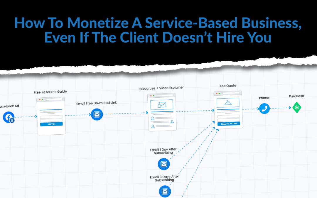 How To Monetize A Service-Based Business, Even If They Don't Hire You