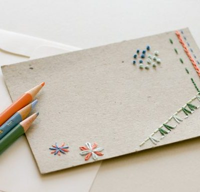 Hand Embroidered Note Cards – DIY