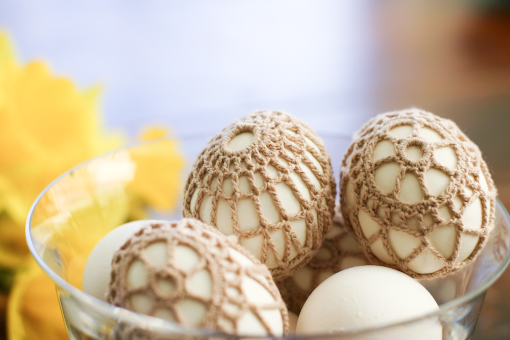 Crochet Covered Easter Eggs A Diy Tutorial Flax Twine