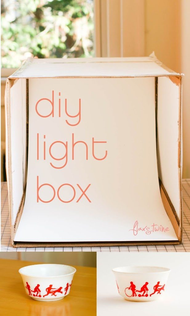 diy photo light box a finish fifty project flax twine. Black Bedroom Furniture Sets. Home Design Ideas