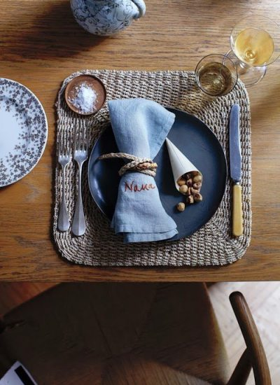 DIY Personalized Embroidered Napkins