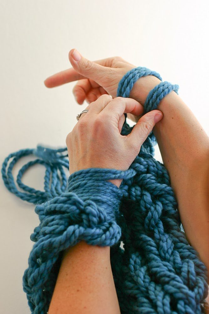 Arm Knitting Tutorial Pdf : Arm knitting how to photo tutorial and pdf flax twine