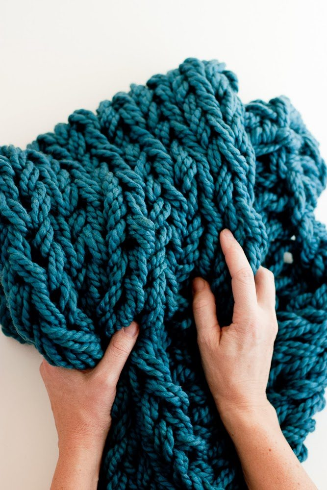 Arm Knitting Fabric : Arm knitting how to photo tutorial part binding off