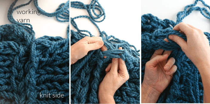 Arm Knitting Tutorial Pdf : Arm knitting how to photo tutorial part finishing