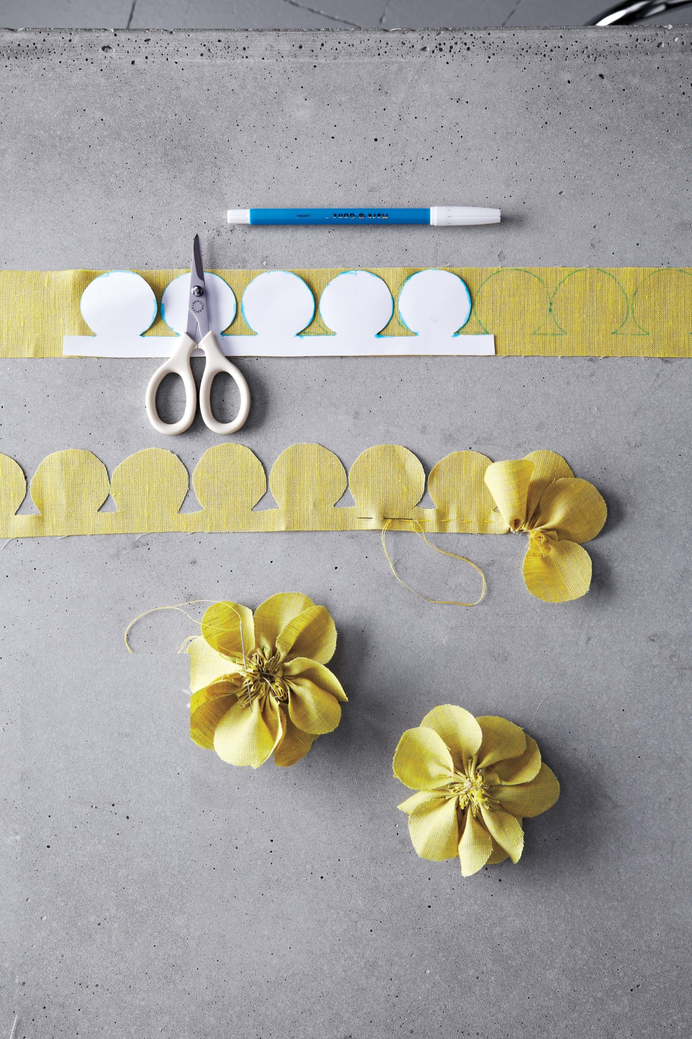 Pansy and Dahlia Fabric Flower Tutorial   Flax   Twine fabric flower tutorial