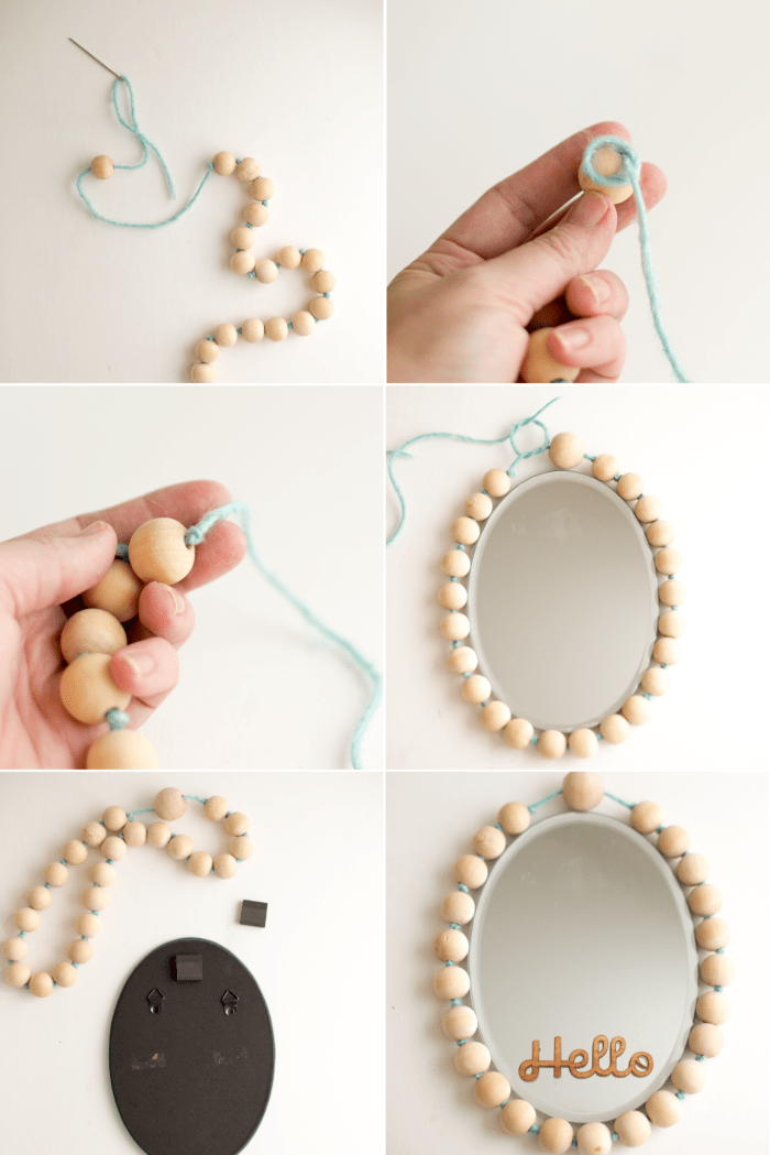 beaded magnetic mirror diy