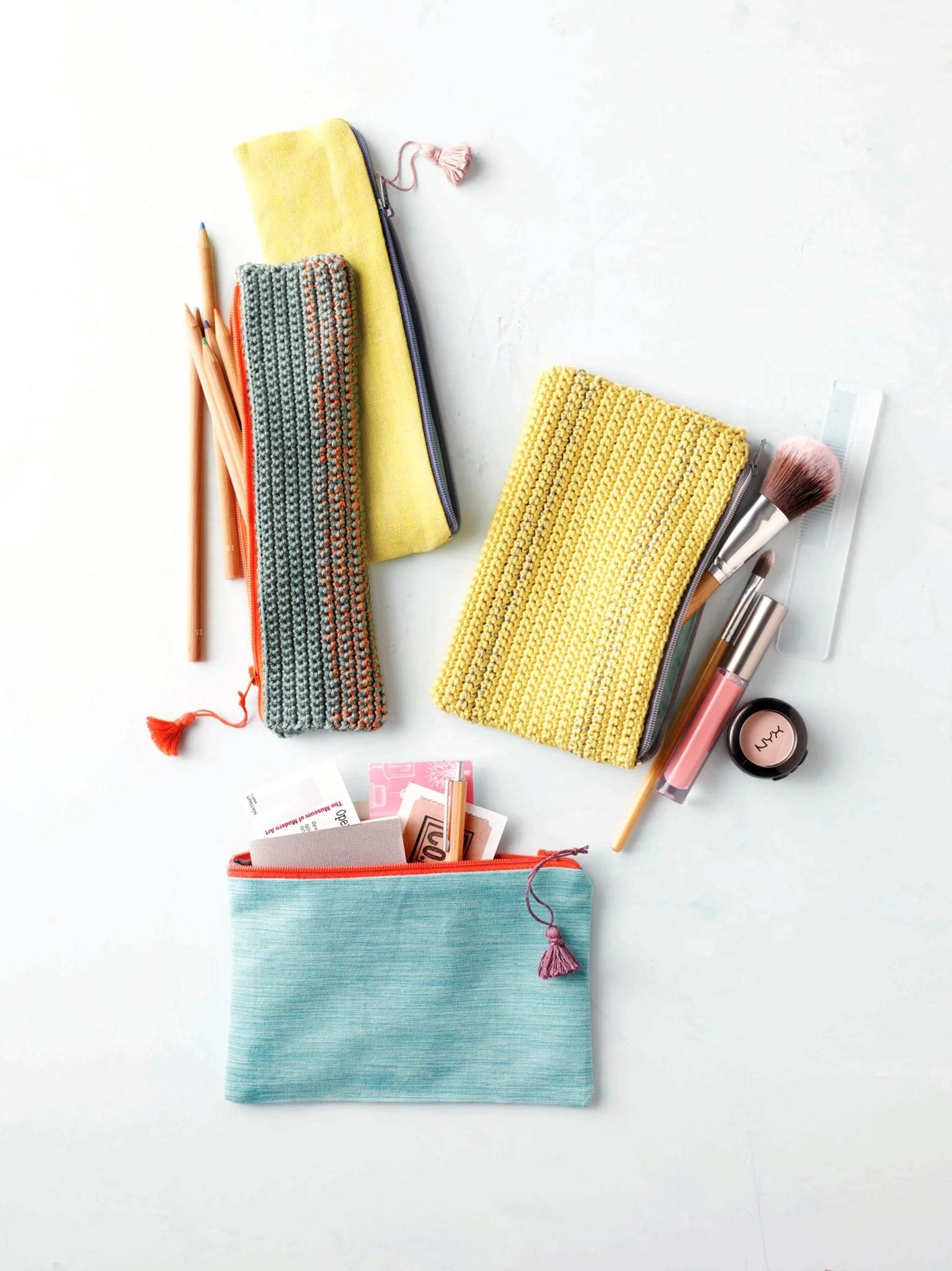 Crochet Zipper Pouch Pattern - Flax & Twine