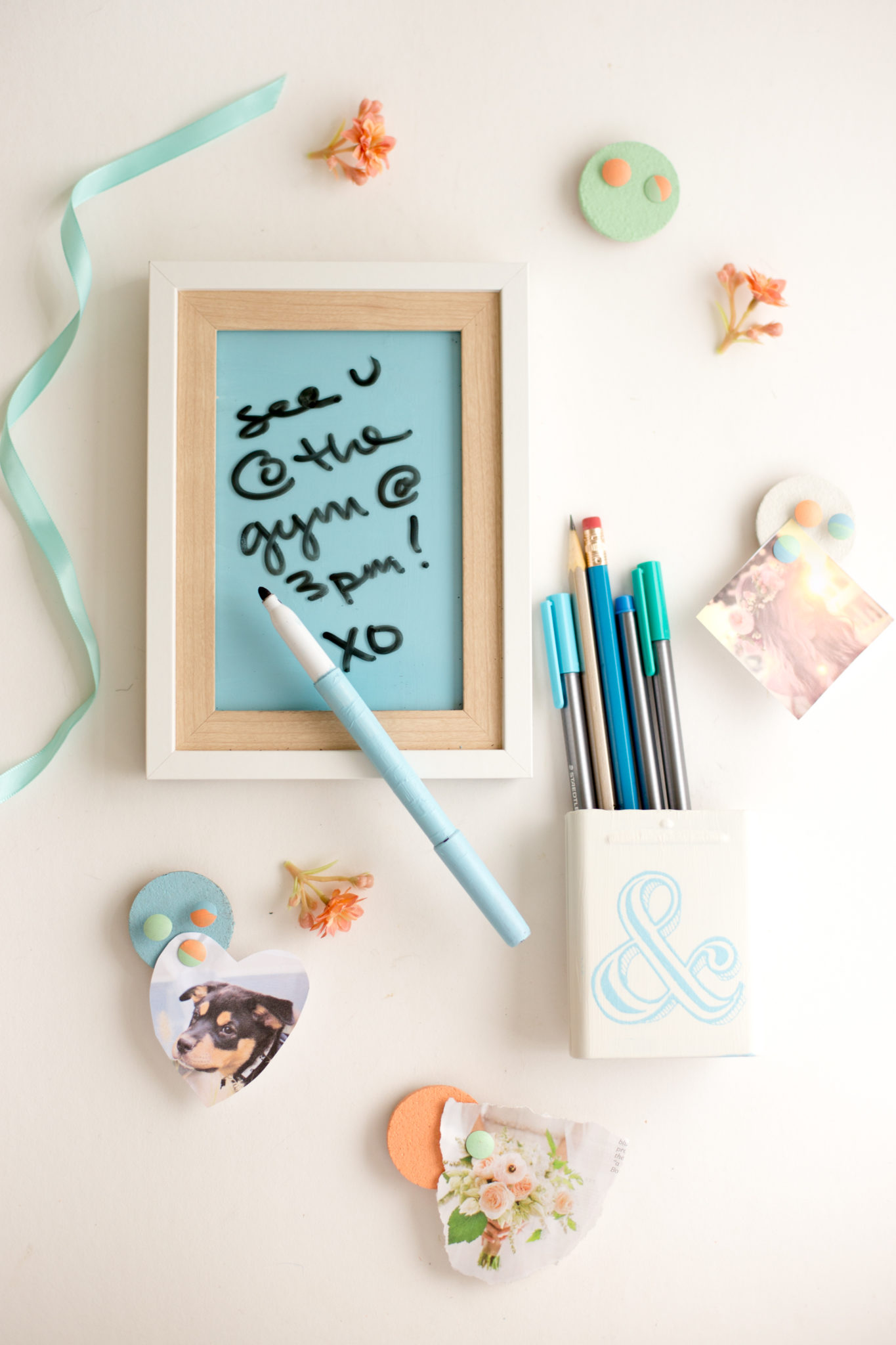 Diy Locker Decorations Dry Erase Board Pencil Cup Flax