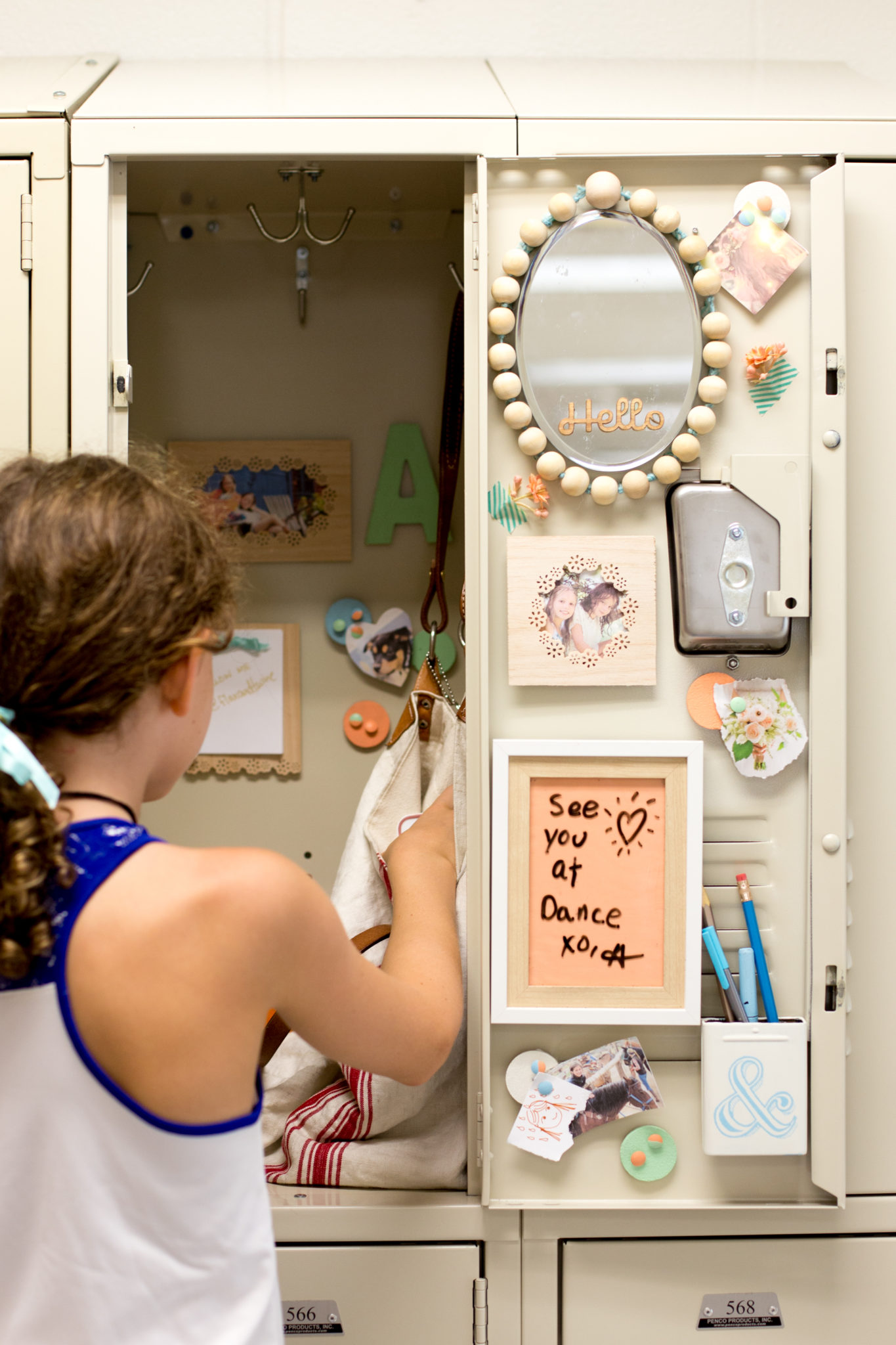 DIY Locker Decorations: Dry Erase Board + Pencil Cup ...