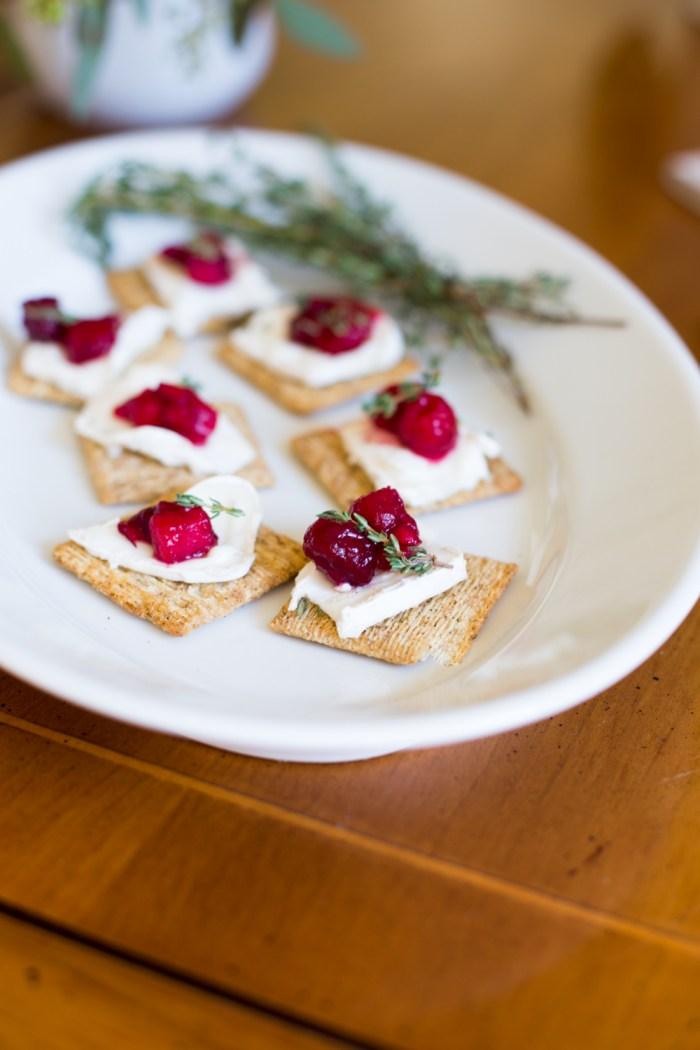 cranberry goat cheese hors d'oevres for Thanksgiving