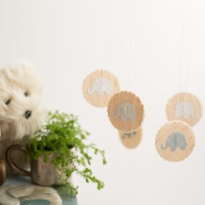 adorable diy wood mobile