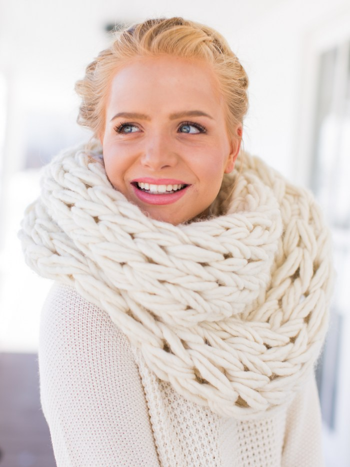 gorgeous chunky arm knit cowl infinity scarf