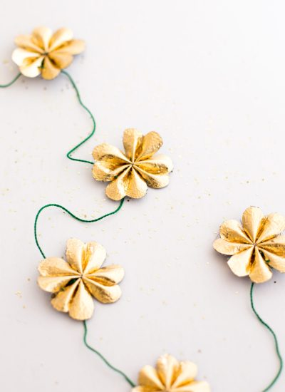 Gold Leather Four Leaf Clover Garland DIY