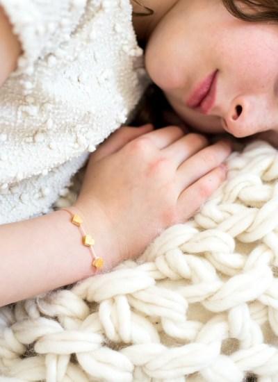Golden Hearts DIY Valentine Jewelry