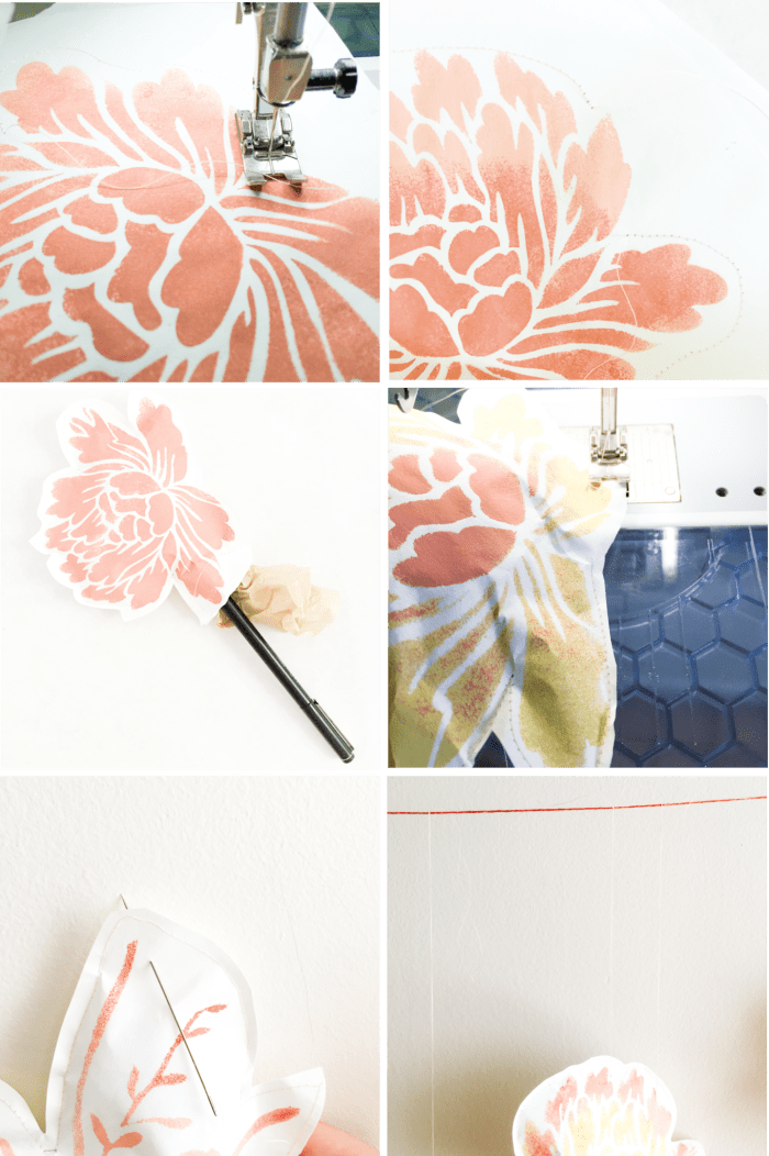 DIY Paper Flower Back Drop how to 1