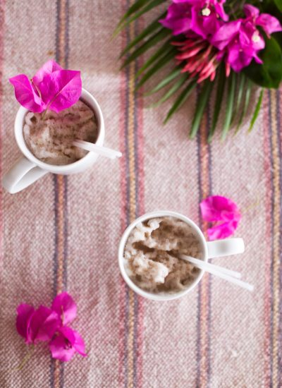 Chocolate Chip Cookie Coffee Smoothie and Ice Pops