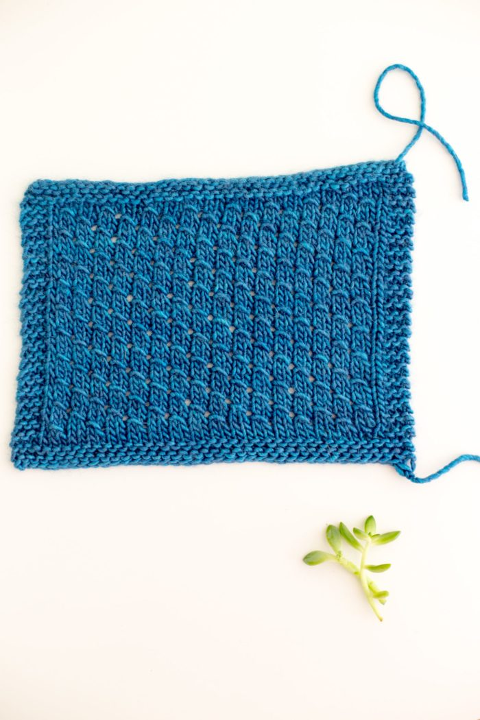 How to knit the Diagonal Scallop Stitch Pattern
