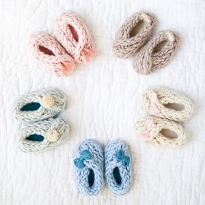 Baby Booties «« Finger Knitting Pattern from Knitting Without Needles by Anne Weil