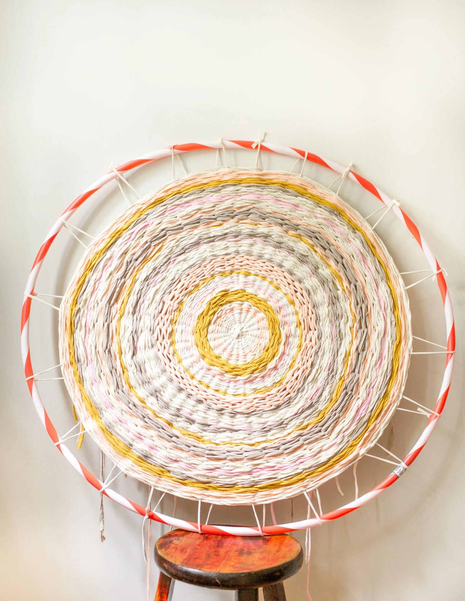 A Woven Dress Featuring An Allover: Woven Hula Hoop Rug