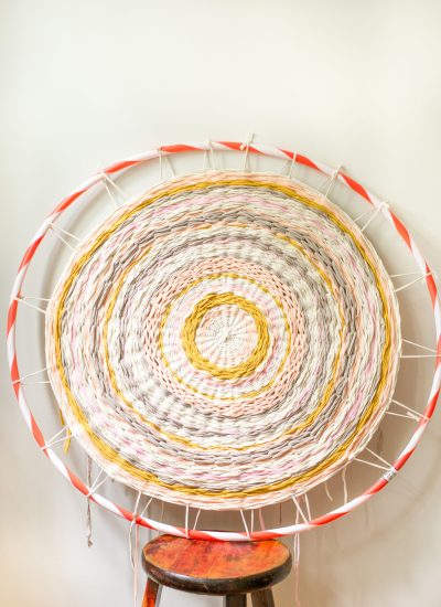 Woven Hula Hoop Rug