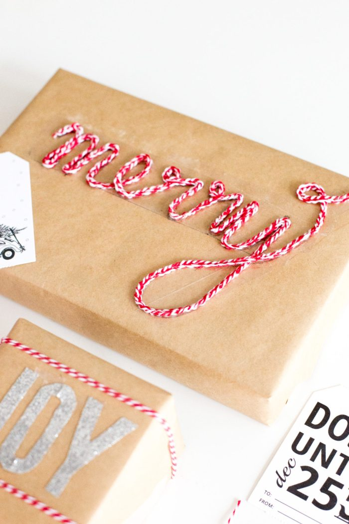 Bakers Twine Gift Wrap Ideas and DIY