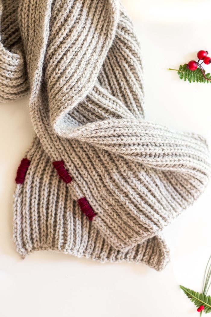 Beautiful Brioche Scarf Pattern