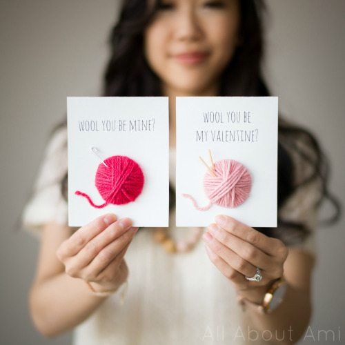 Wool-y Valentines - Easy last minute Valentine's Day DIY