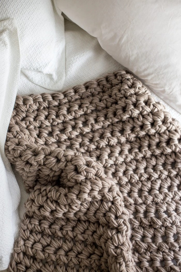 Gorgeous Hand Crochet Blanket In An Hour Flax Twine