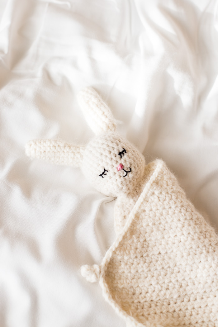 Crochet Bunny Buddy Blanket Pattern